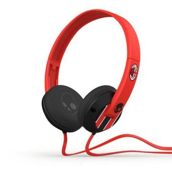 Skullcandy Uprock On-Ear dengan Mic 1 - AC Milan - Merah-Hitam