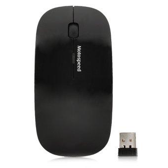 Motospeed G101 Wireless USB 2.0 1000~1600dpi Optical Mouse - Black (2 x AAA)