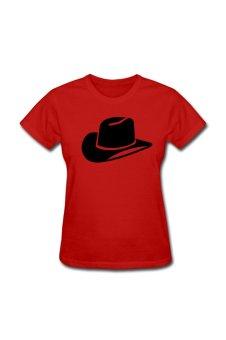 Women's Cowboy Custom T-Shirt for red - Intl