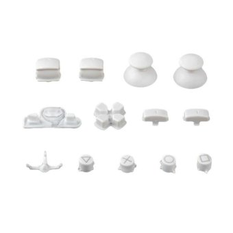 Generic 13 White Controller Thumbsticks D-pad Buttons Set for Playstation 3 Playstation 3 - Intl