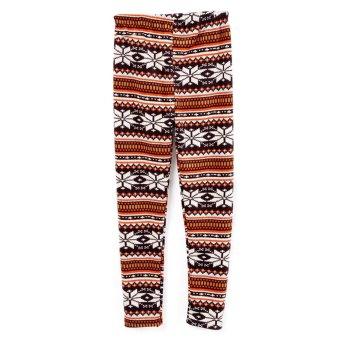 Cyber ACEVOG New Fashion Lady Women Thicken SnowFlake Reindeer Print Warm Leggings (Intl)
