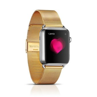 Milan Steel Watchband Series for Apple Watch 38mm (Gold) - Intl