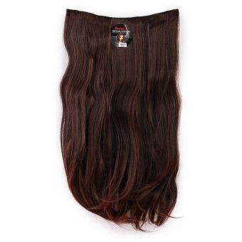 Seven 7 Revolution Hair Clip Lurus Straight Darkbrown Big Layer 60 cm - Coklat Tua Dark Brown / Hairclip Korea