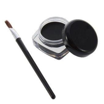 Persistent Eye Liner Eyeliner Eye Shadow Gel Makeup Cosmetic And Brush - Intl