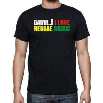 harga Indoreggae Damn! I Love Reggae Music Tshirt - Hitam Lazada.co.id