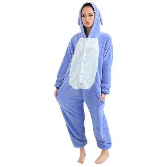HAOFEI Cartoon Jumpsuit Pajamas Blue - INTL