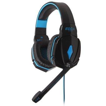 GETEK Gaming Headset EACH G4000 3.5mm LED Headphone Mic for PC (Blue)