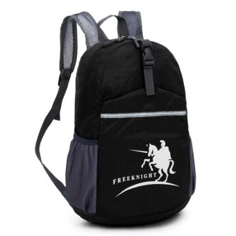 Free Knight 20L Waterproof lightweight nylon backpack Outdoor Sport climbing mountaineering Backpack Foldable Travel Bag(Black) - INTL