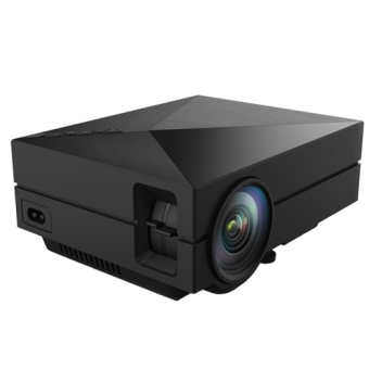 GM60 1000LM 800x480P LED Projector for Home Theater, Support HDMI / VGA / AV-in / SD / USB (Black)(INTL)