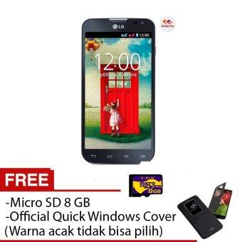 LG L90 Dual D410 - 8 GB - Dual SIM - hitam + Free Quick Windows Cover + Micro sd 8 GB
