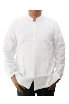 Al-Luthfi Baju Koko Dewasa Lengan Panjang Blekser Putih - 0302H53