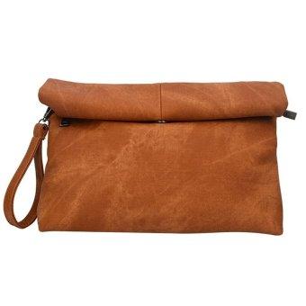 Vintage Trendy Women Clutch Denim Purse Evening Bag(Khaki) (Intl)