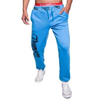 EOZY FASHION Men Sport Sweat Pants Korean Style Male Casual Baggy Outdoor Sports Dance Training Running Jogging Trousers (Light Blue) (Intl)