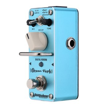 AROMA AOV-3 Ocean Verb Digital Reverb Electric Guitar Effect Pedal Mini Single Effect with True Bypass (Intl)