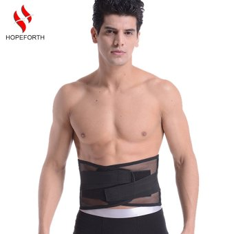 Hopeforth Lumbar Support Brace Hot Sale Fashion Breathable Mesh Four Steels Plate Protection Back Waist Support Belt- Intl