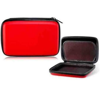 Generic Protective Hard Bag with Zipper for 3DS XL Game Console (Red) - Intl