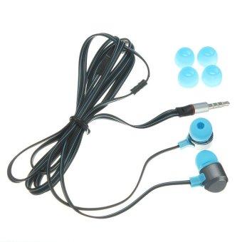 3.5mm In-Ear buds with Microphone Earphone (Black) - Intl