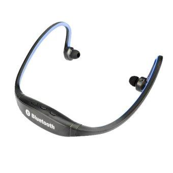 DL-S9 Outdoor Sport Wireless TF-Card Channel Stereo Bluetooth Headset Earphone(Blue) (Intl)