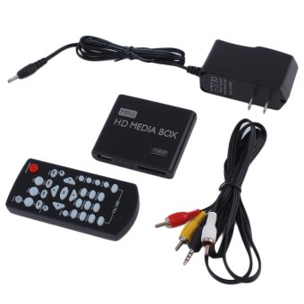 Mini Full 1080p HD Media Player Box MPEG/MKV/H.264 HDMI AV USB + Remote Black (Intl)