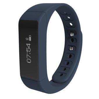 JTS I5plus Smart Wristband Bluetooth 4.0 Waterproof IP67 Smartband Sleep Monitor Smart Bracelet (Blue) - Intl