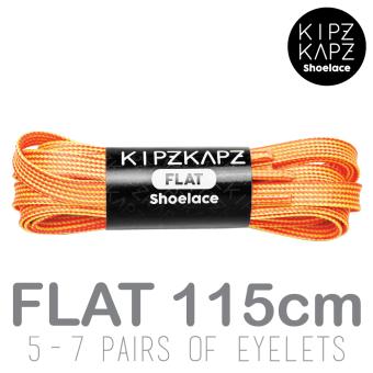 harga KipzKapz Shoelace - Orange Yellow 115cm - Tali Sepatu Pipih / Flat 8mm Lazada.co.id