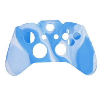 RIS Camo Soft Silicone Case Cover Blue And White (Intl)