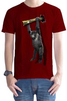 T-Shirt Glory Kaos 3D Kingkong Rope Merah Maroon - Merah Maroon