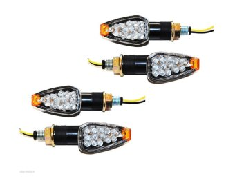 Autoleader Pair Dual Auto Motorcycle 14LED Turn Signal Light Blinker For BMW Honda Suzuki - Intl
