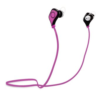 S5 Wireless Bluetooth 4.1 Stereo Sport Earphone Headphone Handfree for Android Smart Phone Black&Hot Pink (Intl)