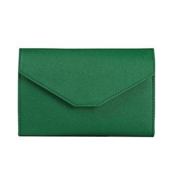 Women Fashion Multifunctional Wallet Passport Bag Documents Purse Green - Intl