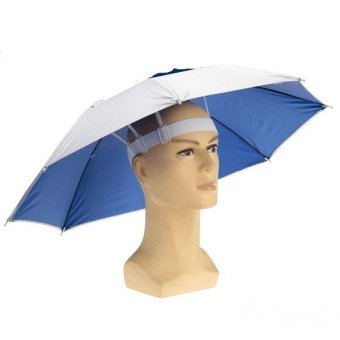 Foldable Fishing Sun Umbrella Hiking Golf Camping Headwear Cap Head Hats Outdoor - Intl