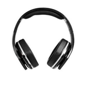 SKY 001 Foldable On ear Stereo Bass Bluetooth Headphones Headset Supports FM TF Card Reader (Black) - Intl