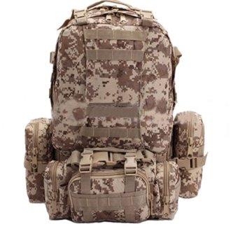 Camouflage Shoulder Bag Sports Bag Mountaineering Travel Hiking Package Back(Grey)