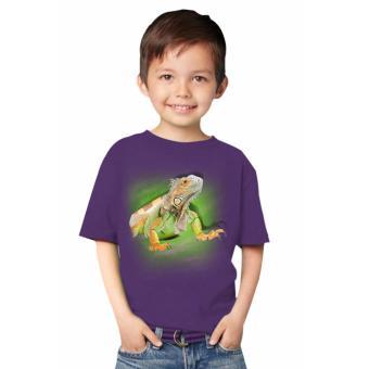 harga NSClothing Kaos 3D Kids Iguana Ungu Tua Lazada.co.id