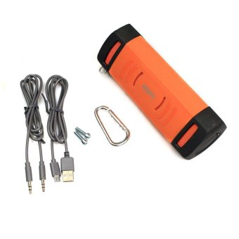 Portable Bluetooth Waterproof Shockproof Speaker Stereo for Sports Orange - Intl