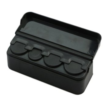 harga Storages and Organizers Car Coin Pocket Case 4 Slot Holder - Tempat Uang Koin - Hitam Lazada.co.id
