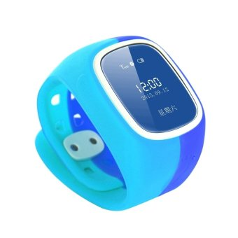 Kids Smart Watch Children Anti-Lost Watch Tracker SOS Remote Control Band for Baby with Sleep Monitor (Blue) (Intl)