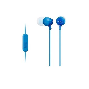 Sony EX15AP In-ear Stereo Headphones with Mic for Smartphone iPhone Blue