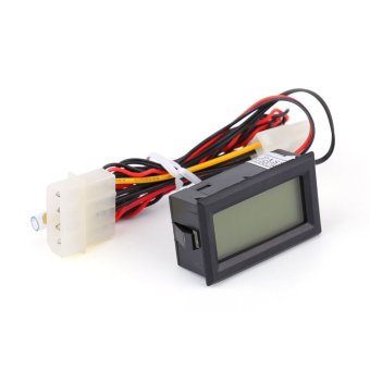 TS-801 LCD Digital Temperature Thermometer Meter Gauge PC Car Mod C/F Molex Panel Mount(Red) - Intl