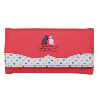 PU Leather Long Purse Wallet Clutch Bag Card Holder Handbag Watermelon Red