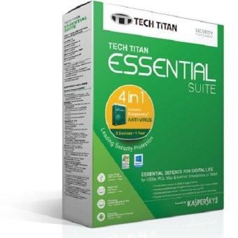 Kaspersky Antivirus 2016 3 User - Tech Titan Essential Suite