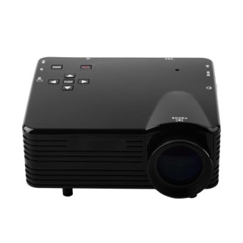 Mini Portable Projector LED 400 Lumens with Analog TV Receiver and SD Card Support - VS320+ - Black