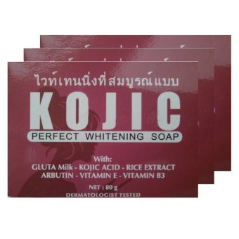 Kojic Perfect Whitening Soap Memutihkan Kulit 80g - 3pcs