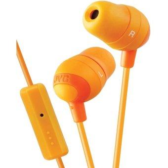 JVC Audio HA-FR37A Marshmellow Earbud Headphone Microphone Remote Orange