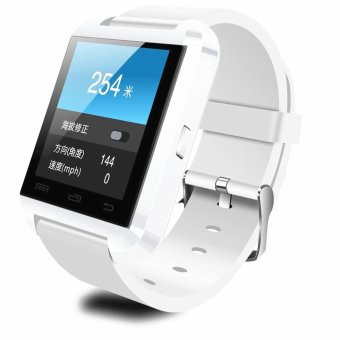 Smart Wrist Watch Phone Mate U8 Bluetooth For smart phone White (Intl)
