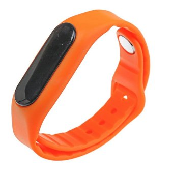 E06 SmartBand Touch Screen Wristband Bracelet For Android IOS(Orange) (Intl)