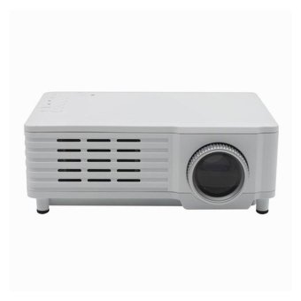 GP8 LCD LED 1080 P Video Mini Full HD Portable 3D Projector HD Home Theater White (Intl)