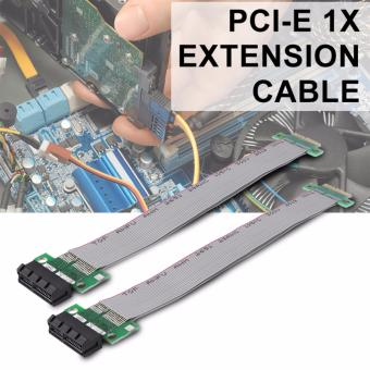 XCSOURCE 2pcs PCI-E 1X Riser Card Extension Ribbon Cable with Gold-plated Connector AC644 - intl