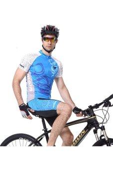 ZHENGQI Man's Cycling Jersey Short Sleeve Suit Mountain Bike Clothing Riding Apparel And Equipment (Black) (Intl)