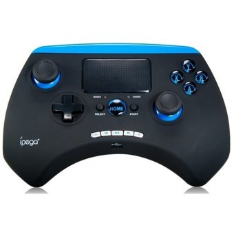 Ipega Bluetooth Game Controller with TouchPad for Smartphone and Tablet - PG-9028 - Hitam-Biru
